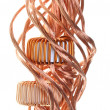 Power consumption in the industry, copper line and coil - Stock Photo