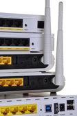 Desktop wireless DSL modems — Stock Photo