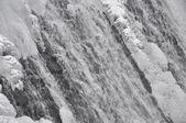 Berg waterval in de winter — Stockfoto