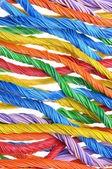Mehrfarbige computer kabel bündeln — Stockfoto