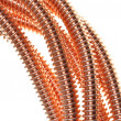 Copper cable, energy and technology industry — ストック写真