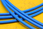 Blue cable lines — Stock Photo