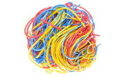 Ball of tangled cables — Stock Photo