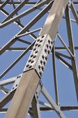 Steel structure of tower — Stock Photo