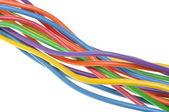 Fasci di cavi elettrici computer — Foto Stock