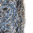Chaos of network cables — Stock Photo