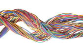 Multicolored network computer cables — Stock Photo