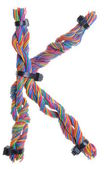 Colorful wire in the shape of the letter K — Foto de Stock