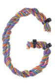 Colorful wire in the shape of the letter G — Foto Stock