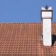 Traditional red tile on roof — Stock Photo