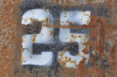 Number 25 on rusty metal — Foto de Stock