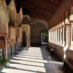 Courtyard church of San Zeno Verona — Stock Photo