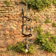 Stock Photo: Exterior wall lamp on old wall
