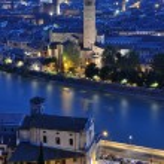 Night view of the city of Verona — Stock Photo #28850763