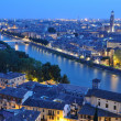 Stock Photo: Night view of the city of Verona