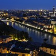Night view of the city of Verona — Stock Photo