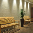 Empty bench in the waiting room — Stock Photo