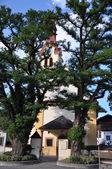 Iglesia en igls en tirol — Foto de Stock