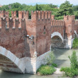 Ponte Scaligero bridge in Verona — Stock Photo