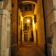 Stock Photo: Narrow alley in Verona at night