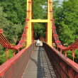 Pedestrian bridge over the river — Stock Photo #29130325