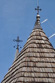 Wooden roof of old church — Stock Photo