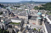 View over the town of Salzburg — Stock Photo