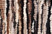 Treated warm sheepskin leather — Stock Photo