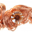 Copper wire with coil — Stock Photo