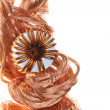 Copper wire with coil — Stock Photo #31975159