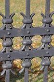 Steel fence — Stock Photo