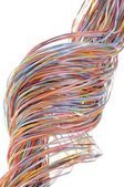 Colorful cable of telecommunication network — Stock Photo