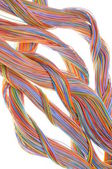 Swirl of computer network cables — Stock Photo