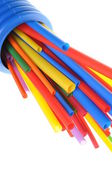 Heat shrink tubing components for cables isolation — Stock Photo