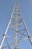 Steel telecommunication tower with antennas — Stock Photo