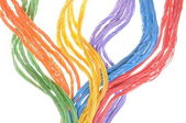 Colored computer cables — Stock Photo