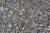 Nuts and bolts components for mounting — Stock Photo