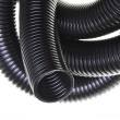 Stock Photo: Black plastic corrugated pipe