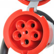 Stock Photo: High voltage power connector plug