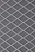 Air filter, metal grid on gray — Stock Photo