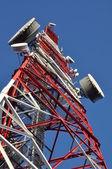 Bouw van een telecommunicatie-toren — Stockfoto