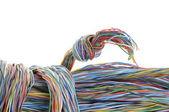 Svazky síťových kabelů — Stock fotografie