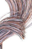 Cables of telecommunication network — Stock Photo