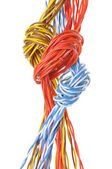 Computer cables with loops — Stock Photo