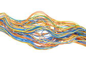 Colored copmputer cable — Stock Photo