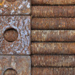 Rusted long bolts and washe — Stock Photo #48974691