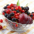 splitted berries in a bowl — Stock Photo