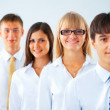 Portrait of happy business group — Stock Photo
