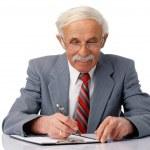 Businessman Writing. — Stock Photo
