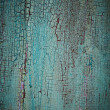 Foto Stock: Turquoise weathered wood texture
